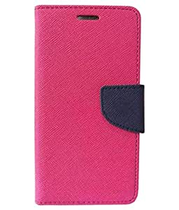 Zocardo Fancy Diary Wallet Flip Case Cover for Karbonn Aura - Pink - Premium Cover with Inner Pocket