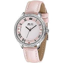 Cute Cartoon Rabbit Luxury Rhinestone Leather Strap Quartz Women Girl Wrist Watch,Pink