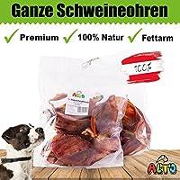 Alto-Petfood - 1200g ganze Schweine-Ohren | Natürlich getrocknet | ohne Lockstoffe | wiederverschließbarer Beutel / Naturkauartikel, Hundeleckerli, Kausnack, Hundesnack, Hunde Kauartikel, Schwein, Ohren, Schweineohren, Schweinsohren, SO20
