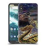 Head Case Designs Officiel Myles Pinkney Dragon Fantaisie Étui Coque en Gel Molle pour Motorola One Power...