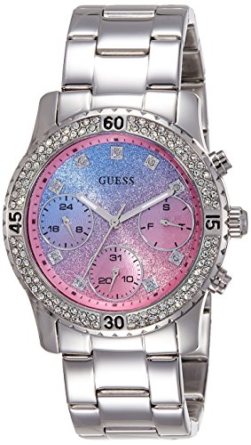 Guess (GVSS5) Women's Quartz Watch with Multicolour Dial Analogue Display and Silver Stainless Steel Bracelet W0774L1