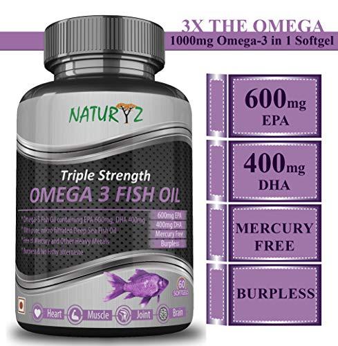 Naturyz Fish Oil 1400Mg (Triple Strength) With 1000Mg Omega 3...