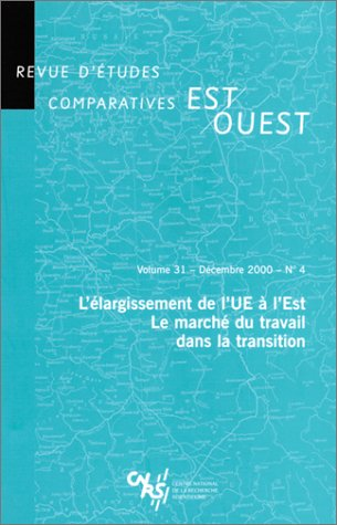 Revue d'études comparatives Est-Ouest, volume 31 : 4 décembre 2000