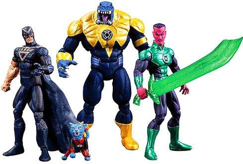 Preisvergleich Produktbild Green Lantern SDCC Actionfigurenset: Black Hand, Green Lantern, Sinestro, Arkillo & Dex-Starr