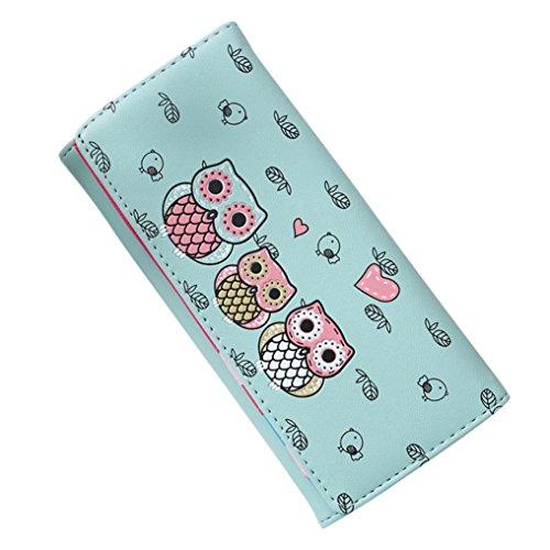 n Einfache Retro Eule Druck Lange Geldbörse Geldbeutel Kartenhalter Handtasche (Baby-eule Für Verkauf)