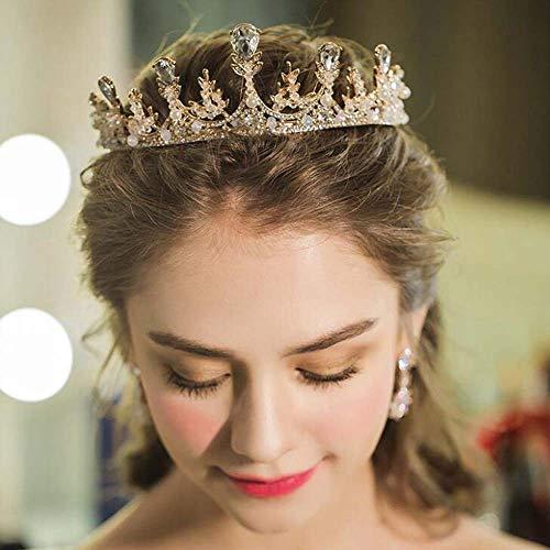 jovono Hochzeit Kronen und Tiaras für Erwachsene Brautschmuck Krone Prinzessin Party Haar-Accessoires für Frauen