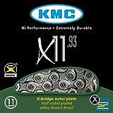 KMC Chain X-11-93 Cadena Estrecha, Unisex Adulto, Gris, 114 eslabones
