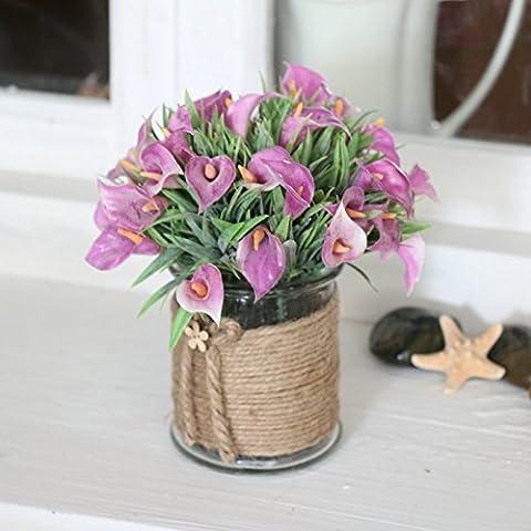 KXZZY Home decorazioni ornamenti floreali di emulazione Mini vasi di piante verdi , Sub-Toner emulazione fare vecchio barbone piccole spiagge di sabbia di Lam
