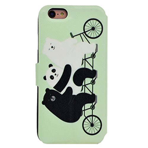Custodia iPhone 6, iPhone 6S Cover Wallet, SainCat Custodia in Pelle Flip Cover per iPhone 6/6S, Ultra Sottile Anti-Scratch Book Style Custodia Morbida Cover Protettiva Caso PU Leather Custodia Libret Orso Sveglio