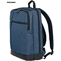 WeCool Canvas 15.6 Inch Dark Blue Laptop Backpack