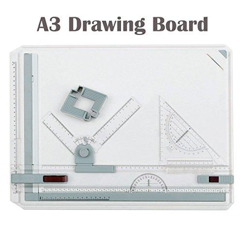 A3 Zeichenplatte, NOTENS Zeichentisch mit Parallelbewegung Winkel einstellbar Messsystem 50,5 x 36,8 cm