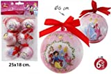 Disney Princess Weihnachtskugeln 6 Tlg. Weihnachtsbaumschmuck Ø6cm