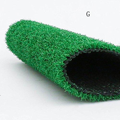 WENZHE-Artificiales sintético plástico Grass Césped Artificial Alfombra Hierba Artificial Alta Densidad Barato, 2 Metros De Ancho, 3 Tipos De Grosor Césped ( Color : G , Tamaño : 2*1m )