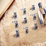 Evtech(tm) Lady Acrylique Astuce Set Crytal strass Nail Wrap Extension Ongle Nail Fashion Nail Cosmétologie Nail Art outil Nail Sticker