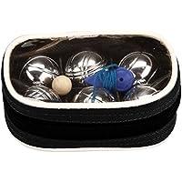 GetGo Kit Jeu de boules Petanque Mini, chrome/noir, One Size