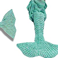 QFYZYZ - Manta de Punto para Mujer, diseño de Cola de Sirena, Regalo para