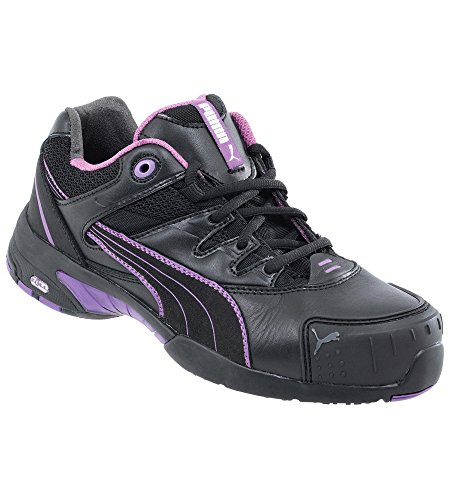 Puma Safety Shoes Stepper Wns Low S2 HRO SRC, Puma 642880-234 Damen Espadrille Halbschuhe, Schwarz (schwarz/lila 234), EU 37