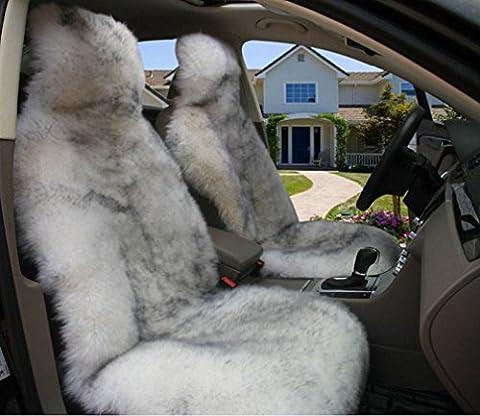 Homee @ Amortisseur monolithique en laine de voiture Coussin peluche quatre saisons Pad fournitures voiture de relief de laine, Ash