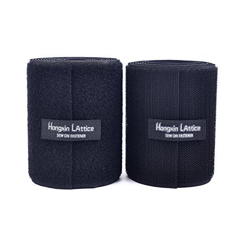 10 cm di larghezza 2 metri di lunghezza Cucire On hook and loop strisce set di nylon tessuto stile Fastener,Black,Nero
