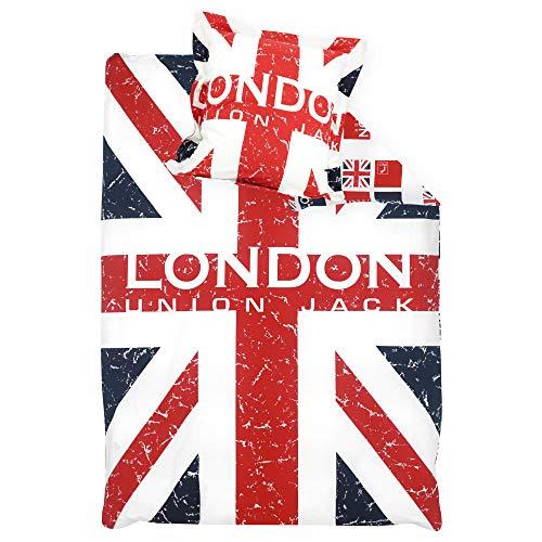 Parure de lit 140x200 cm 100% Coton London Union Jack