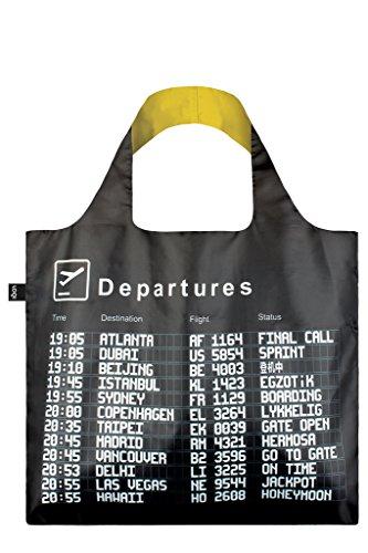 LOQI Airport Einkaufstasche / Reisetasche Reise-Henkeltasche, 50 cm, Arrivals (Artist Tote Bag)