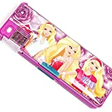 J Go Cratoon Printed Dual Side Magnetic Pencil Box For Kids(Barbie)