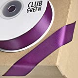 Club verde doble cinta de satén, color morado, 6 mm x 25 m
