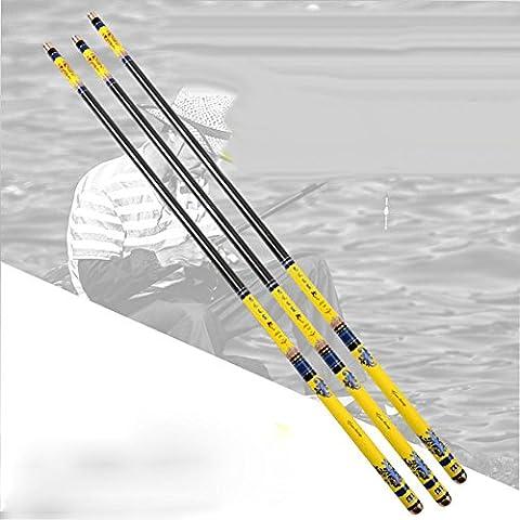 LZH Barres de pêche en carbone de haute qualité ultra-légers super dur Telescopic pêche engins 3.6-7.2M , 7.2 m