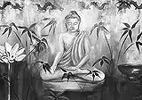 Artland Qualitätsbilder I Poster Kunstdruck Bilder 70 x 50 cm Fantasy Mythologie Religion Buddhismus Malerei Schwarz Weiß A9AW Meditation in sw