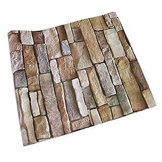 Retro Brick 3D Self-Adhesive Thin Wallpaper, 100x45cm, 39.3x17.7in,Stone Wallpaper Decoration Wall Stickers