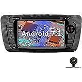 YINUO 7 Pulgadas 2 Din Android 7.1.1 Nougat 2GB RAM Quad Core Pantalla Táctil Estéreo Reproductor De DVD GPS Navegador Multimedia Radio De Coche HD 1024*600 Para SEAT IBIZA 2009-2013 Soporte DAB/ Control Del Volante Bluetooth/ AV-IN/ 1080p (Con Cámara Trasera 1)