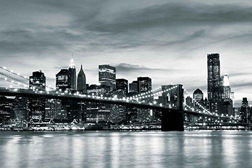 Tapeto Fototapete - Stadt Brooklyn Bridge New York City - Vlies 208 x 146 cm (Breite x Höhe) - Wandbild NY USA