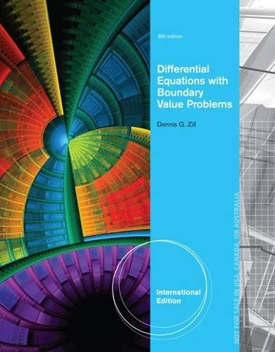 Differential Equations with Boundary-Value Problems, International Edition
