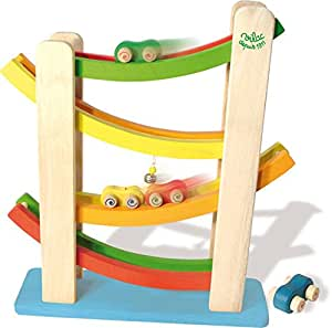 vilac cascading car tower playset toys games. Black Bedroom Furniture Sets. Home Design Ideas