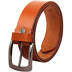 Creature Formal/Casual Tan Colour Genuine Leather Belts For Men (BL-16)