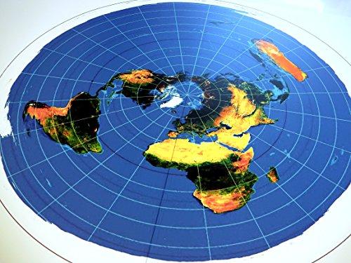 Tierra Plana: Mapa Radar - Azimuthal Equidistant Projection