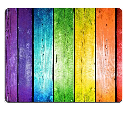 Preisvergleich Produktbild Mousepads Planks in der Farben des Regenbogens Colorful Holz Hintergrund Bild-ID 34935811von Liili Maßgeschneiderte Mousepads fleckenresistenz Collector Kit Küche Tisch Top Schreibtisch Drink Individuelle fleckenresistenz Collector Kit Küche Tisch Top Schreibtisch