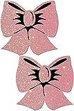 Pastease® Damen Glitzer Baby rosa Schleife Nippel Pasties
