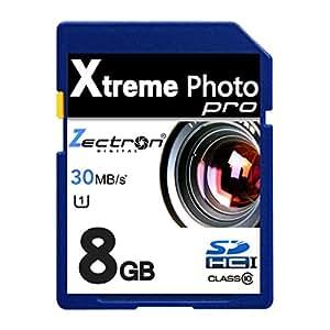 Intova IC-10Appareil photo numérique Caméscope Vidéo 8Go SD SDHC HAUTE VITESSE Zectron Digital Carte mémoire Appareil photo