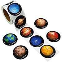 Fancy Land Solar System Stickers Realistic Planet Outer Space 200Pcs Per Roll