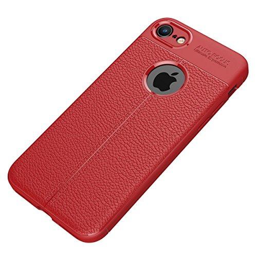 iPhone8 Plus /7 Plus Weich Hülle,EVERGREENBUYING flexibel Silikon Cover TPU IPHONE 8+ / IPHONE 7+ Tasche Ultra-dünne Handyhülle Rückschale Case für iPhone 8 Plus / iPhone 7 Plus (5.5 inch) Rot Rot