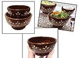 Ciotola di legno con artigianato (legno di Sheesham) - Set di due, ciotola decorativa, ciotola, pollo, ciotola di zuppa, giorno di Pasqua / festa della mamma / regalo del Venerdì Santo