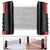 MMBOX rete da ping pong portatile e estraibile, Black / Red