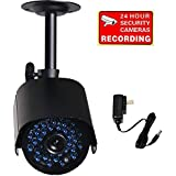 VideoSecu Bullet Security Camera IR Infrared Day Night Vision Home Outdoor 520TVL IR-Cut Filter Switch CCTV Surveillance Camera with Power Supply and Bonus Security Warning Sticker MCM