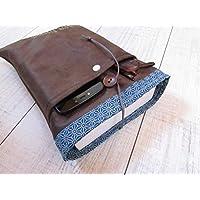 Protège livre, housse protection livre 3 formats (poche/broché/littéraire), étui livre en tissus simili cuir, cadeaux, voyage, noël, anniversaire, cadeaux personnalisés