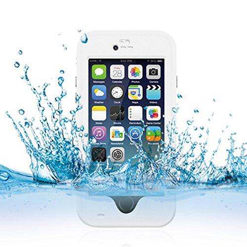 Cuitan Wasserdicht Schutzhülle Hülle für Apple iPhone 6 Plus (Schwarz), Multi-Layer-Hybrid TPU + PC Schutzhülle Rückseite Handyhülle mit Ständer Design Bumper Case Cover Shell für iPhone 6 Plus Weiß