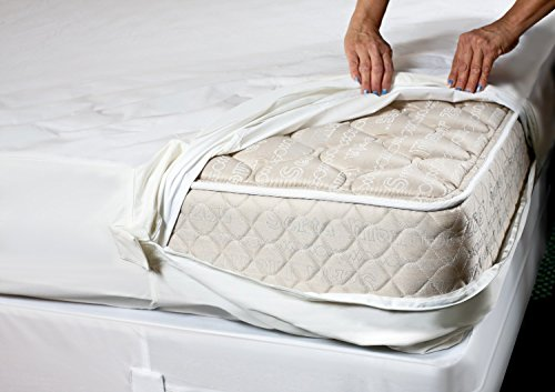 mattress zip cover. king lab tested|anti allergy mattress| full zip closure encasement cover protector | dust mite proof bed bug asthma and cover| breathe mattress
