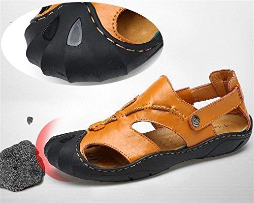 W&XY sandali Maschio estate spiaggia allaperto antiscivolo allaperto doppio uso traspirante confortevole piscina sandali 43