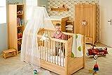 BioKinder 23167 Luca Babybett Kinderbett mit Aufhängung für Betthimmel aus Massivholz Erle 70 x 140 cm