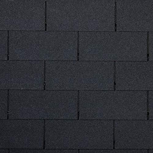 Bitumen Dachschindeln Rechteck Form schwarz 21 Stück (für 3m² Dachfläche) Dach Bitumenschindeln Ziegel Abdichtung